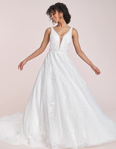 Marnie - a modern wedding dress with sequins