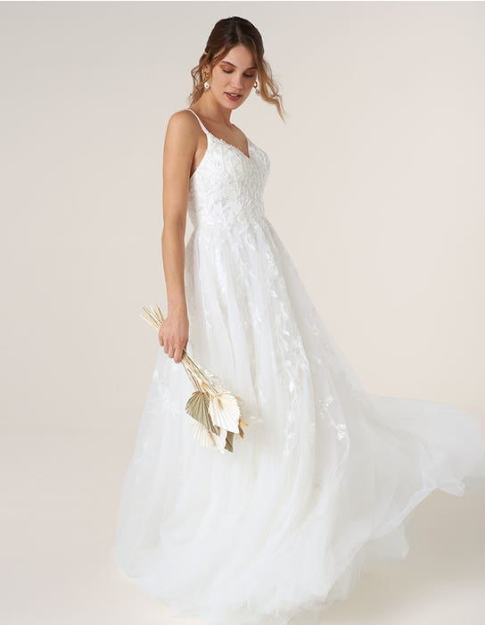 Minnie - a dreamy A-line with beaded florals | WED2B