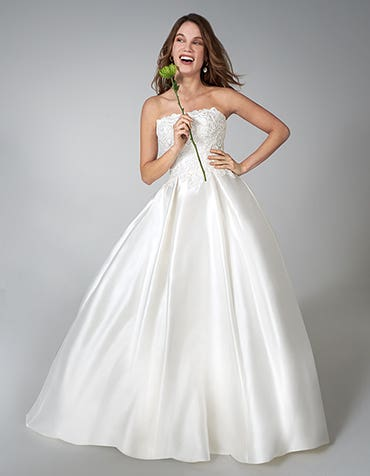 Moira - a shimmering mikado wedding gown