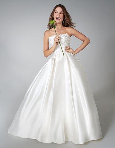 Moira - a shimmering mikado wedding gown