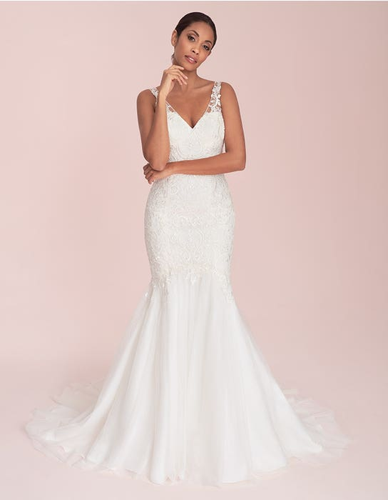 Natalie - a lightweight gown with illusion strap   WED2B