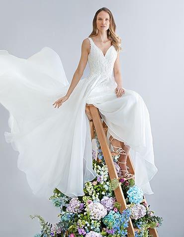 Nora - a naturally elegant a-line wedding dress