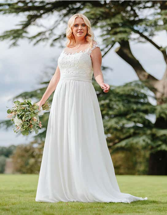 novalie aline wedding dress front edit bellami