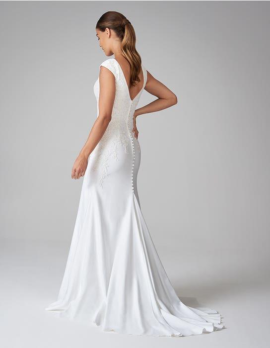 orra sheath wedding dress back anna sorrano
