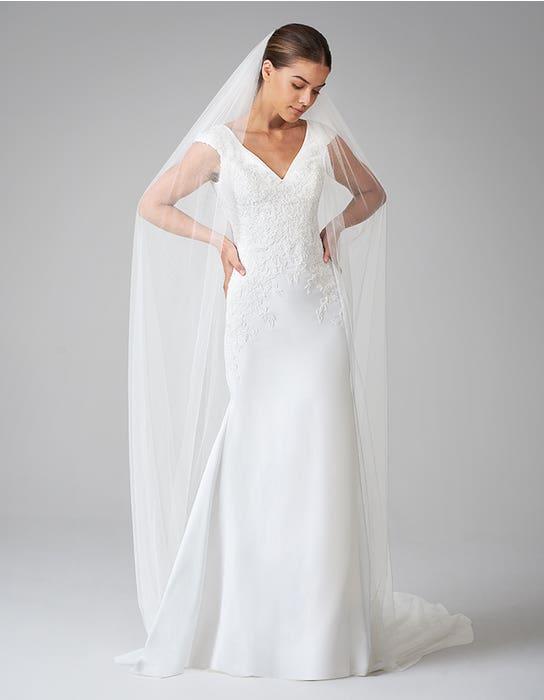 orra sheath wedding dress front anna sorrano