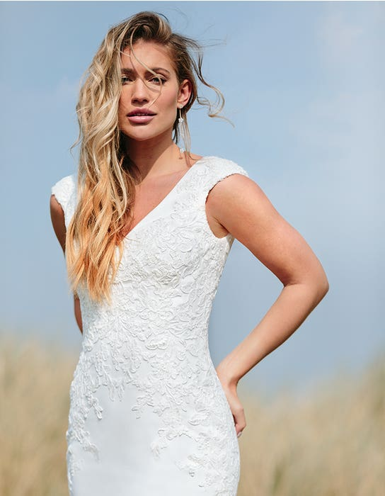 orra sheath wedding dress front crop edit anna sorrano