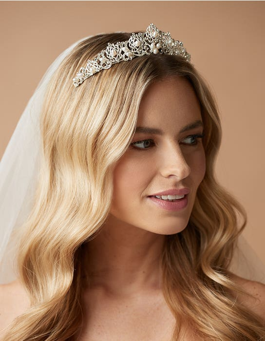 perla tiara wedding dress amixi