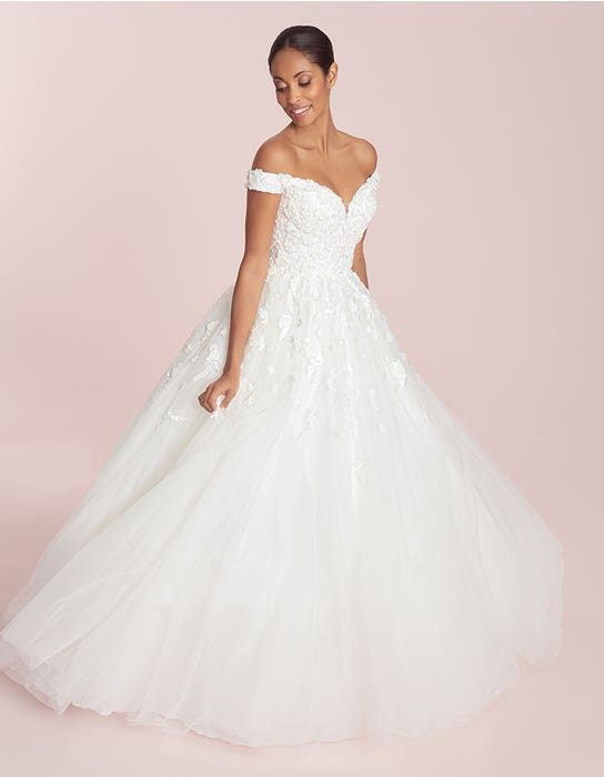 Raina - an off-the-shoulder gown with beaded lace   WED2B