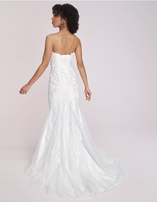 sacha fishtail wedding dress back viva bride