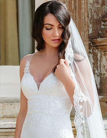 SAFFRON - un voile de mariée scintillant