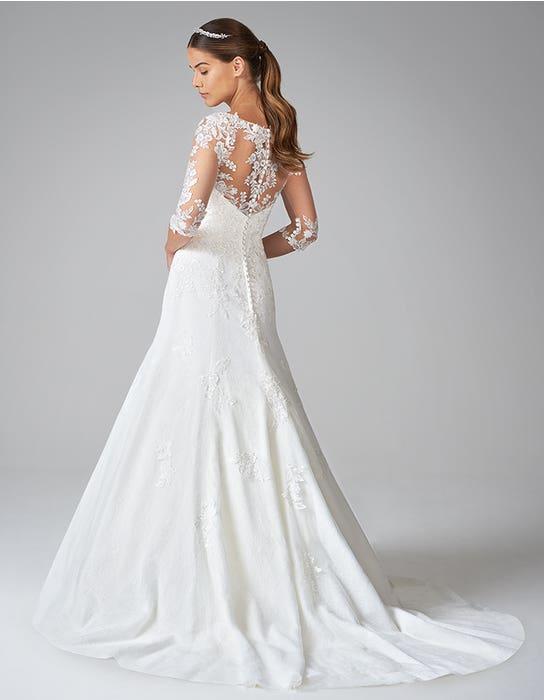 sarah fit and flare wedding dress back anna sorrano