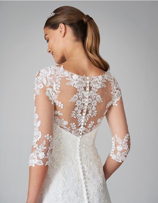 sarah fit and flare wedding dress back crop anna sorrano