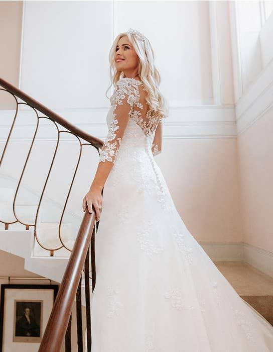 sarah fit and flare wedding dress back edit anna sorrano