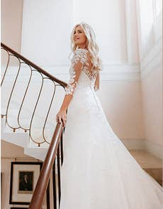 Sarah - a sparkling fit and flare wedding gown