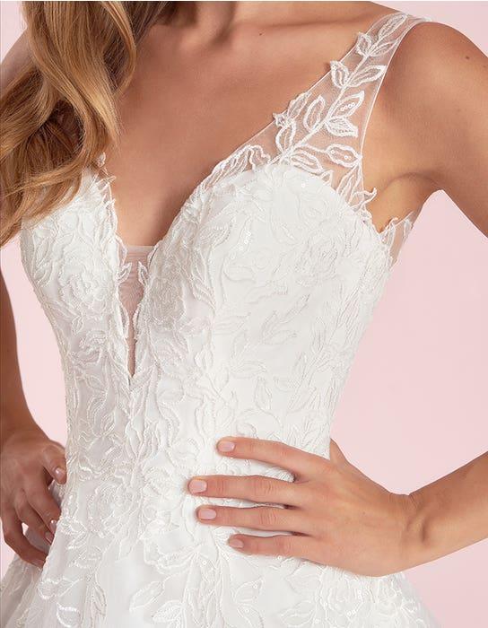 sharisse aline wedding dress front detail viva bride