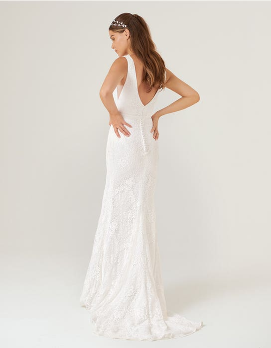sian sheath wedding dress back heidi hudson