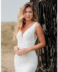 Sian - a lightweight lace gown with eyelash detail
