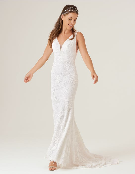 sian sheath wedding dress front heidi hudson