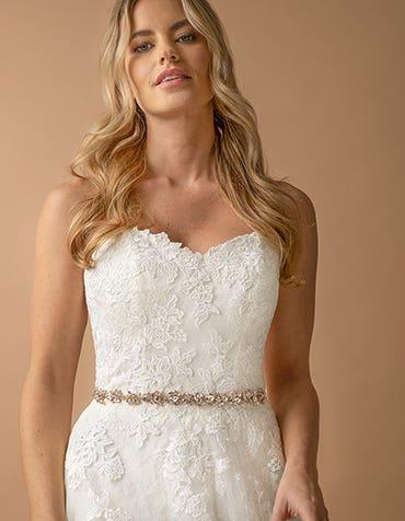 SOLSTICE - une ceinture de mariée luxueuse en satin