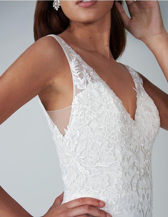 sorrento sheath wedding dress front crop anna sorrano