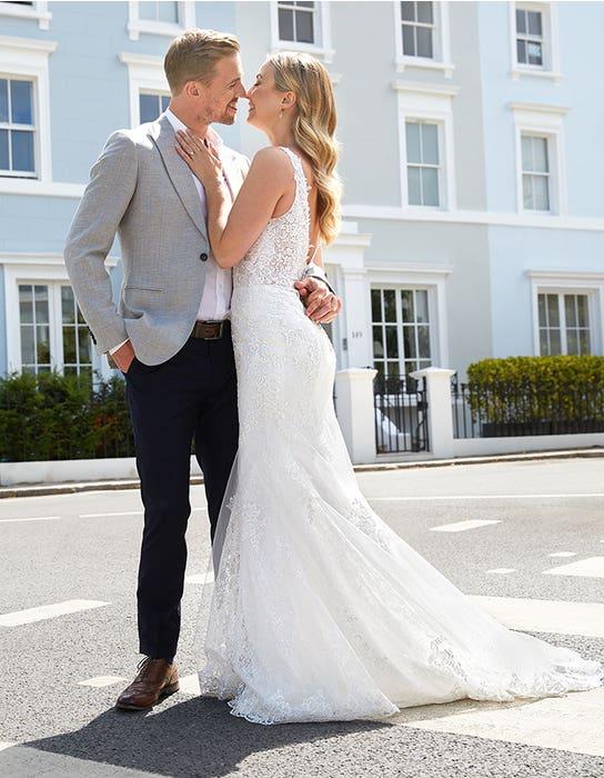 stevie sheath wedding dress back viva bride Edit