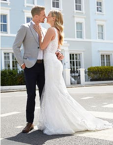 Stevie - a sparkling chantilly lace gown