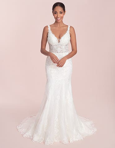 Stevie - a slim fit sheath wedding gown