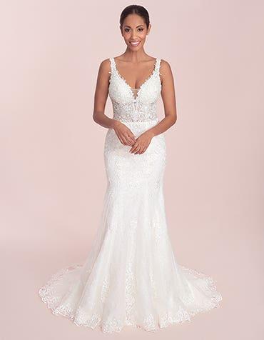 Stevie - a slim fit sheath wedding gown