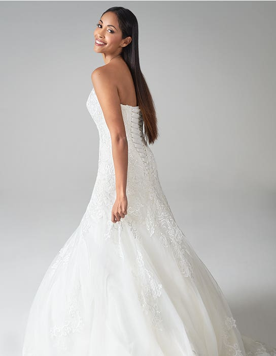 suzette fit and flare wedding dress back anna sorrano
