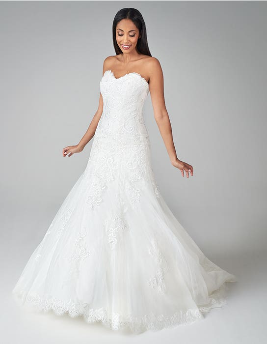 suzette fit and flare wedding dress front anna sorrano