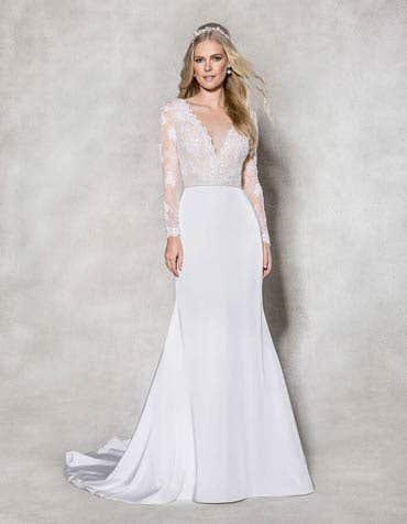 SYDNEY - schmeichelndes Spitzenkrepp-Kleid
