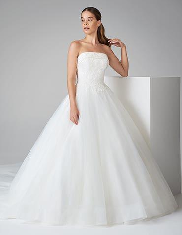 theodora ballgown wedding dress front anna sorrano th