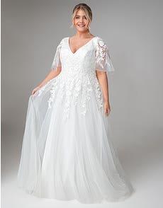Theresa - een zwierige jurk met engelachtige mouwen