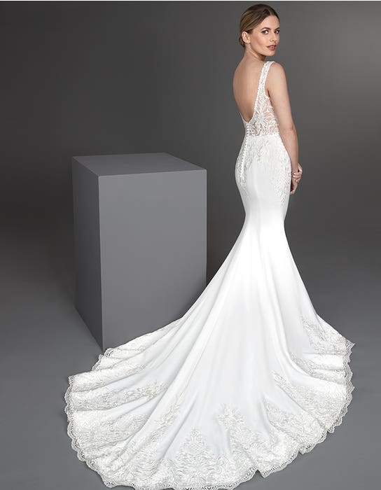 Valdez - a low back crepe and lace gown | WED2B