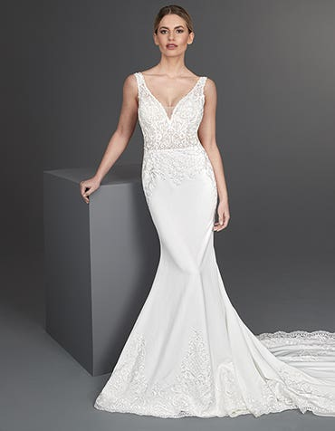 Valdez - a luxury lace sheath gown