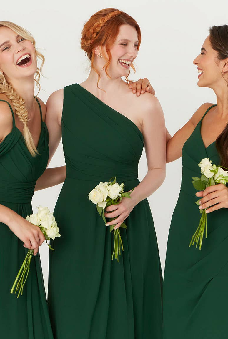Dark Green Bridesmaids Dress