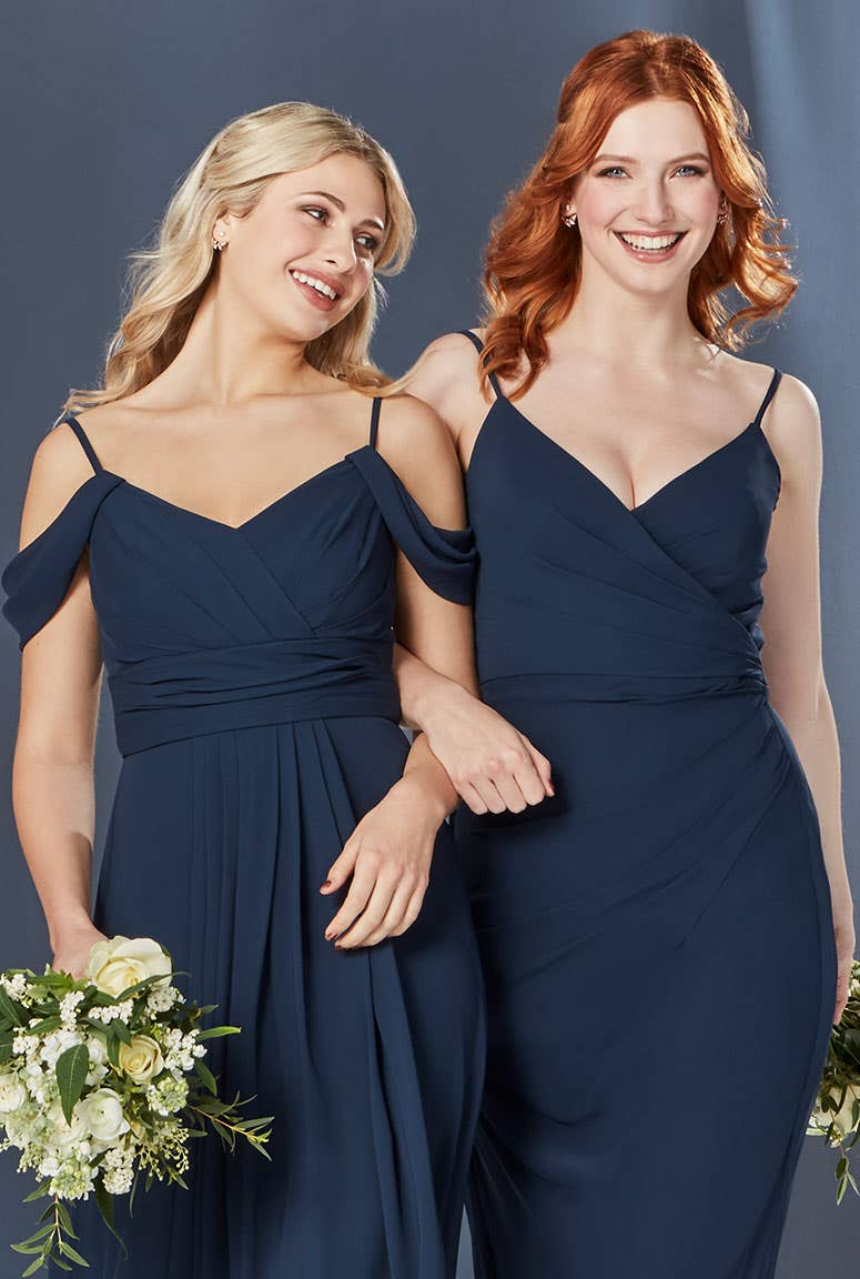 Dark Navy Bridesmaids Dress
