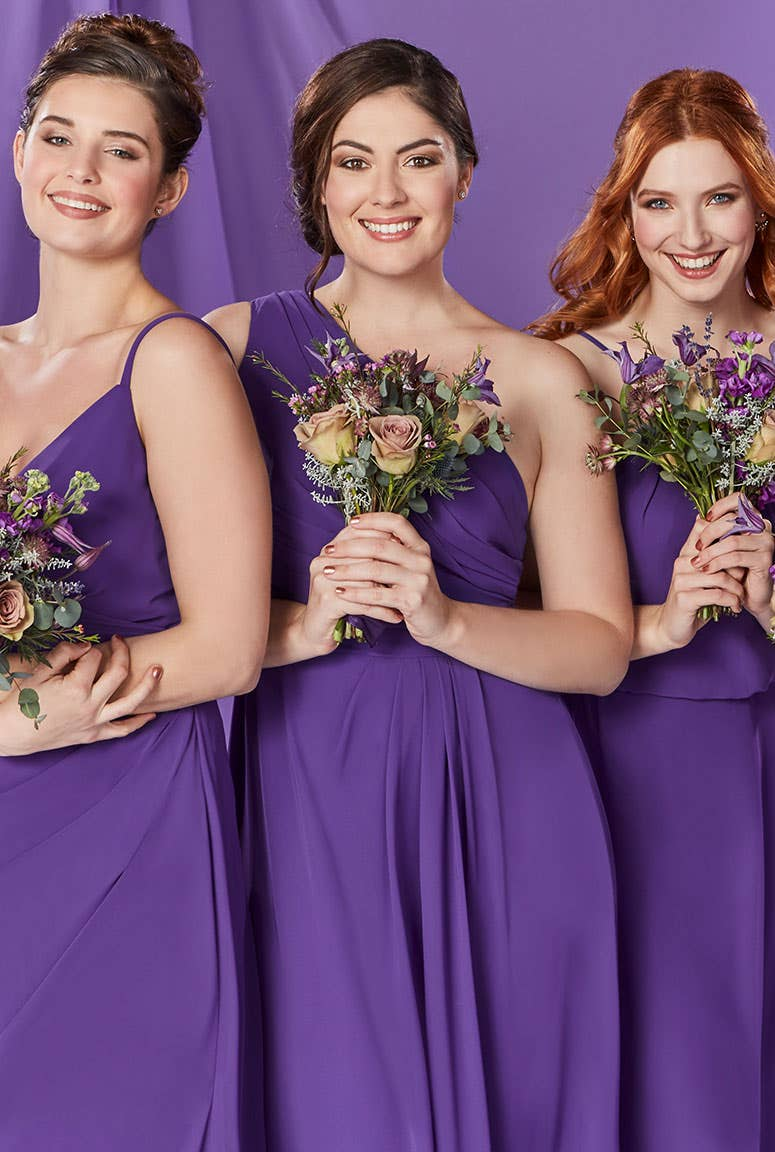Deep Purple Bridesmaids Dress