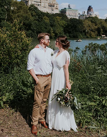 Amy and Mark's stylish New York wedding