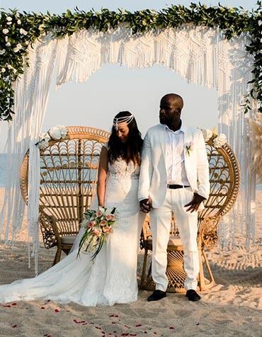 Real Weddings Bromley: Maria and Sene's beautiful beach wedding