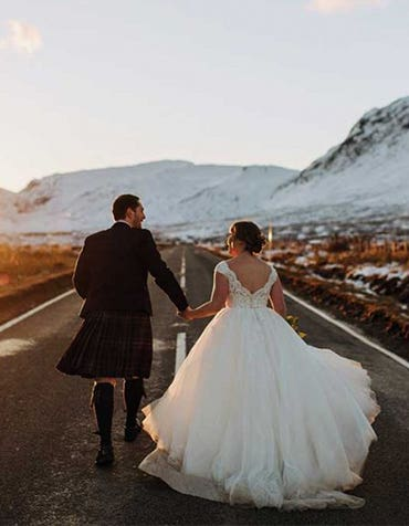 Ross And Lanette's Snowy Highland Wedding