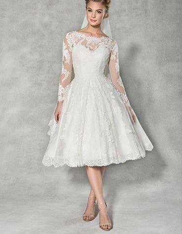 Stunning knee length wedding dresses
