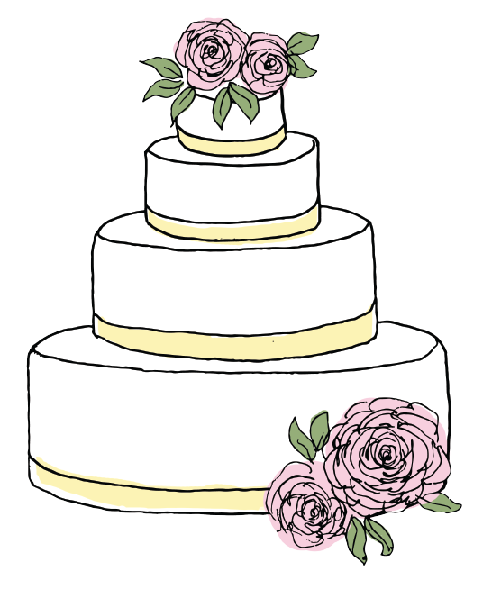 54% of brides are wanting a traditional wedding cake.