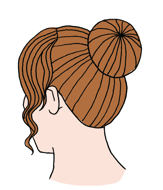 An up do hairstyle was the most popular option