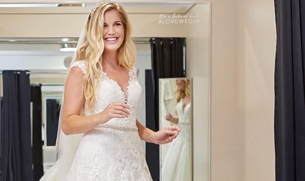 wedding dress shopping wed2b