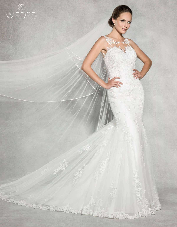 Satin edge wedding veil