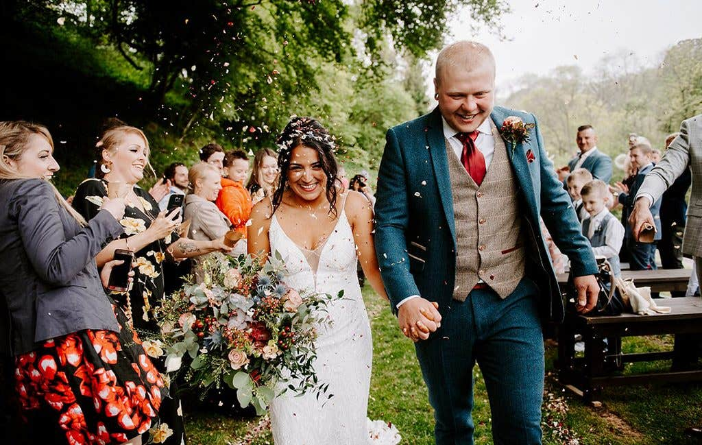 Nichola and Sam's relaxed rustic wedding