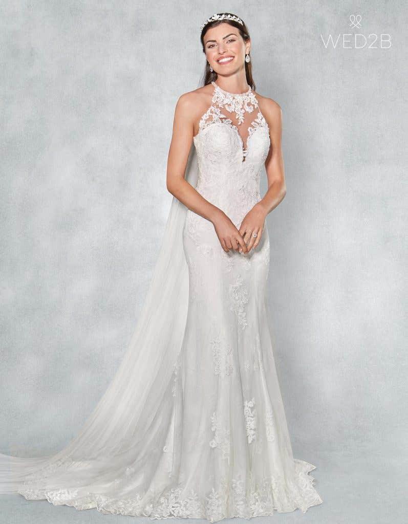 Front view of romantic wedding dress Camden