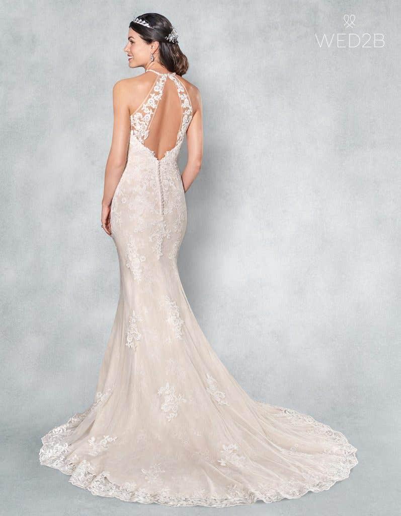 Back view of romantic wedding dress Camden