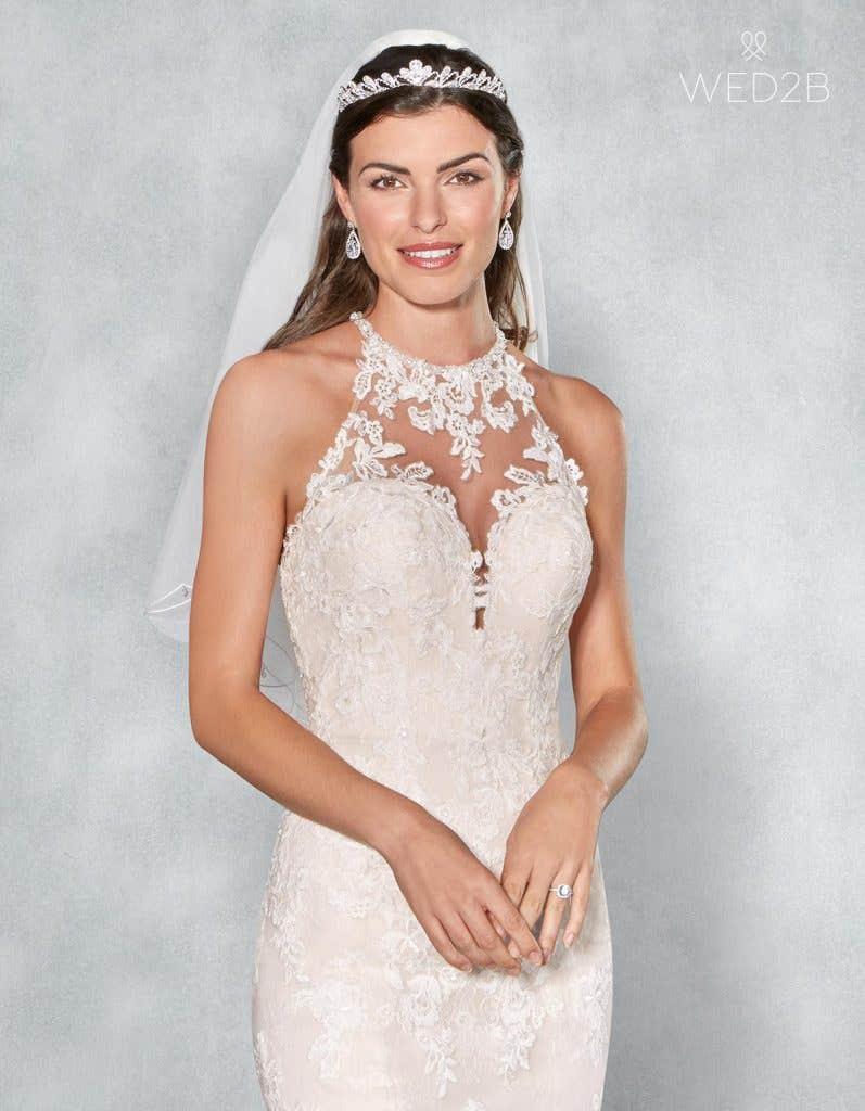 Front crop view of romantic wedding dress Camden
